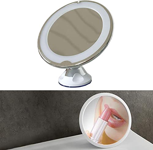 wholesale 10X Magnifying Mirror with Light Wall Mounted LED online sale Lighted Makeup Mirror high quality 360-degree Swivel for Bathroom, Bedroom, Travel, Makeup, Powerful Locking Suction Cup Easy to Move Around (Round) outlet sale