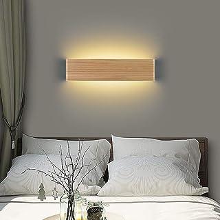Martll Applique Murale Intérieure LED Applique en Bois Up and Down Lampe Éclairage Mural pour Salon Chambre Couloir Escali...