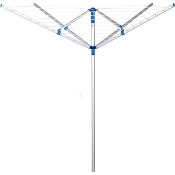 Deuba Tendedero de pié Plegable con 4 Brazos con Cuerdas para Tender la Ropa Ajustable Giratorio 150 x 180 cm Resistente: Amazon.es: Hogar