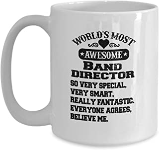Mean Band director Mug| Worlds most awesome Band director| irthday gift gor| Middle School gifts for women