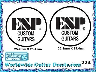 ESP Guitar Decal Headstock Waterslide Restoration logo 224