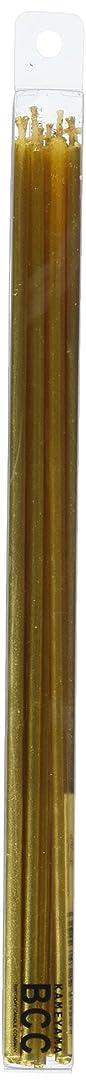 感動するグリースフルーツ18cmスリムキャンドル 「 ゴールド 」 10本入り 10箱セット 72361833GO
