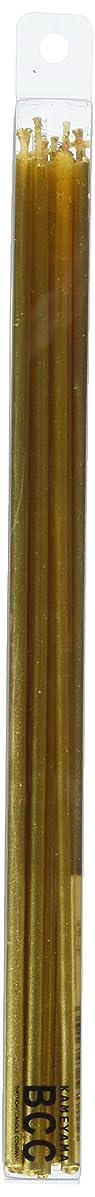 主導権五月水銀の18cmスリムキャンドル 「 ゴールド 」 10本入り 10箱セット 72361833GO