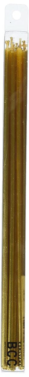貫入復讐ドアミラー18cmスリムキャンドル 「 ゴールド 」 10本入り 10箱セット 72361833GO