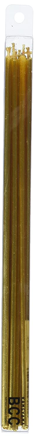 優れた以下きょうだい18cmスリムキャンドル 「 ゴールド 」 10本入り 10箱セット 72361833GO