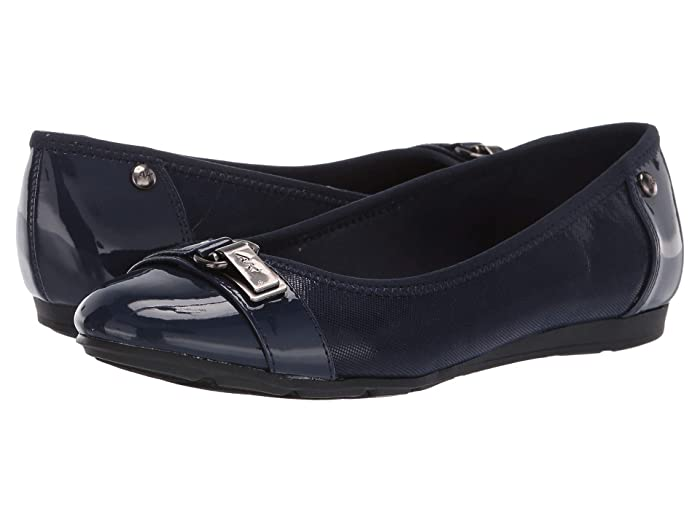 Anne Klein Sport Able Wide (Navy) Women's Shoes