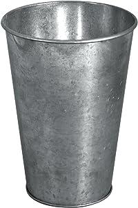 Rayher Zinc-Deco - Jarrón, color plateado, 7,5-11,5 cm de diámetro