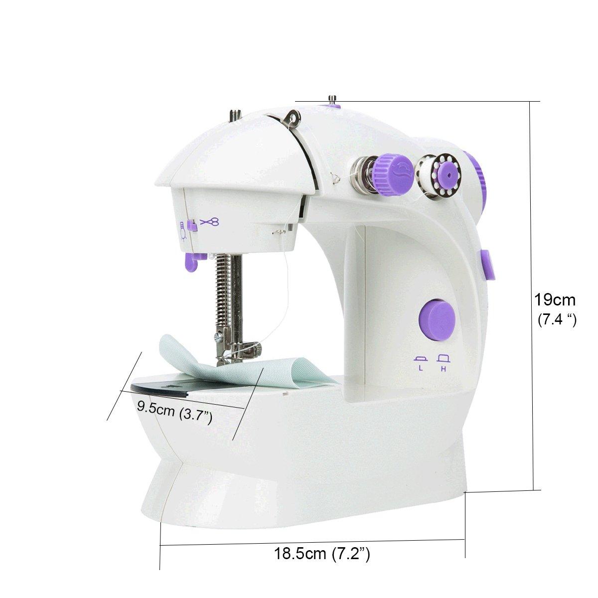 FreeTec Mini máquina de coser Eléctrica, Con Luz de Iluminar Aguja ...