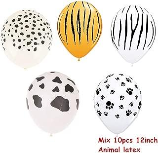 7Pcs Tiger Zebra Latex Balloon Set Theme Jungle Safari Animals Head Foil Balloons Birthday Party Decorations Baby Shower Gifts 10Pcs Mix Latex
