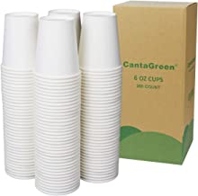 أكواب ورقية بيضاء بسعة 170 مل من كانتاجرين، 200 كوب عالي التحمل للاستعمال مرة واحدة للمشروبات الساخنة والباردة