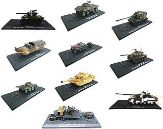 - Juego de 10 vehículos Militares 1/72 WW2 Tanques Panzer Challenger Bulldog DUKW (DA2-A4-A5-A6-A7-A10-A11-A14-A50-A88)