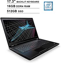 2019 Lenovo ThinkPad P71 17.3 Inch FHD 1080p Laptop (Intel 4-Core i7-7820HQ up to 3.90 GHz, 16GB DDR4 RAM, 512GB SSD, NVIDIA Quadro M620 2GB, Backlit KB, FP Reader, Windows 10 Pro)