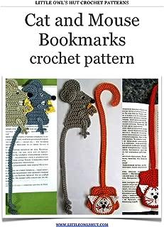 Cat and Mouse bookmarks Crochet Pattern (LittleOwlsHut) (Crochet bookmark Book 5)