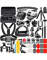 Neewer 53 en 1 Accesorios Kit Compatible con GoPro Hero 9 8/Hero 7 Black/Hero 6/Hero 5 Black/Hero(2018) Apeman DJI OSMO Action SJ6000 DBPOWER AKASO VicTsing Rollei Lightdow Campark