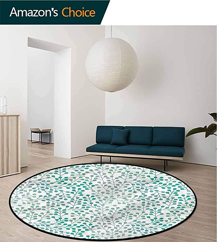 RUGSMAT Romance Small Round Rug Carpet Old Fashion Minimalist Super Soft Living Room Bedroom Home Shaggy Carpet Diameter 35