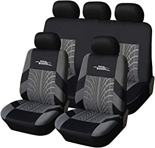Car Seat Covers Universal Fit Full Set Car Seat Protectors Tire Tracks Car Seat Accessories,Gray