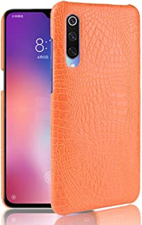 For Xiaomi Mi 9 Pro Shockproof Crocodile Texture PC + PU Case New (Black) FatW (Color : Orange)