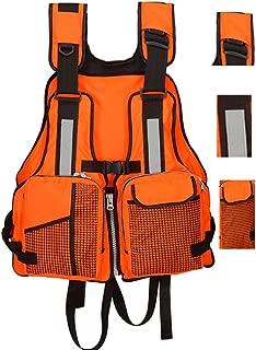 FLYDWV Fly Fishing Life Jacket Kayaking Water Suspension Life Jacket Multi-Pocket Life-Saving Vest Reflective Stripes Life Jacket Fishing Clothing