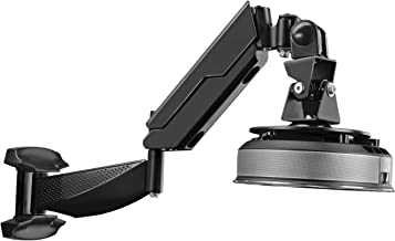 Suptek Black Universal Gas Spring Arm Projector Wall Mount Bracket Fully Adjustable Fits LCD/DLP Projector up to 20lbs(WM4021PR)