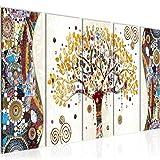 Bilder Gustav Klimt Baum des Lebens Wandbild 150x60 cm Vlies Leinwand Bild XXL Format Wandbilder...