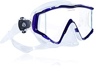 Tilos Single Lens Panoramic SG Large Wide View Mask for Scuba Diving, Snorkeling & Freediving