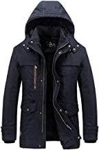 Men's Winter Thicken Hooded 100% Cotton AFS Jeep Wool Thick Jacket