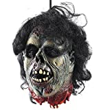 <span class='highlight'><span class='highlight'>FlowersSea</span></span> Halloween Props Horror Hanging Severed Head Latex Gruesome Zombie Decapitated Head With Hair Bloody Scary Halloween Decoration Adult Size (Horror Head 01)