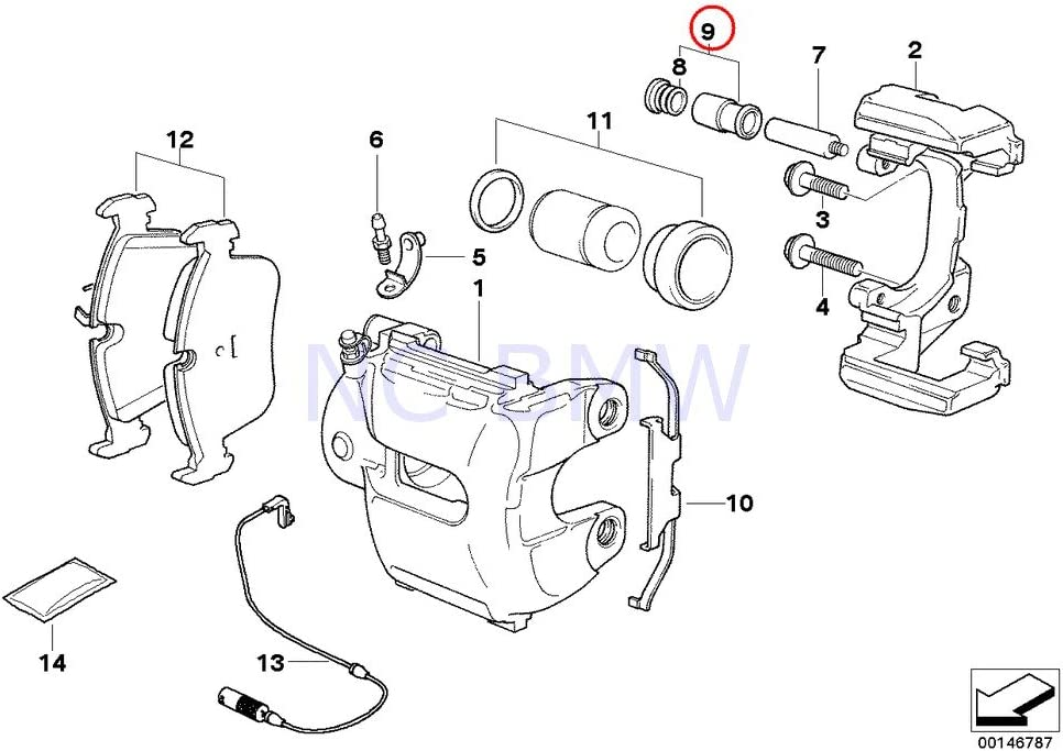Genuine BMW X5 E53 Max 79% OFF E60 Front Repair Bush Max 58% OFF Guide Carrier Brake Kit