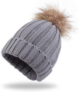 Anxinke Infants Toddlers Keep Warm Soft Hair Ball Earflap Beanie Hat