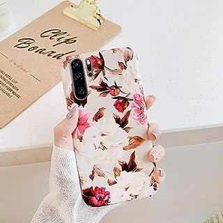 Herbests Kompatibel med Huawei P30 Pro fodral silikon TPU mobiltelefonfodral mode blad blomma mönster TPU silikon fodral s...