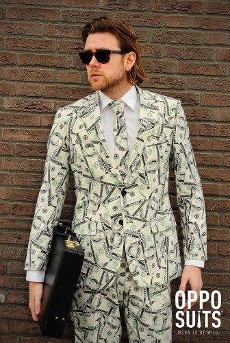Dollaranzug Cashanova Anzug Slimline Herren 3-teilig Premium Gr 48