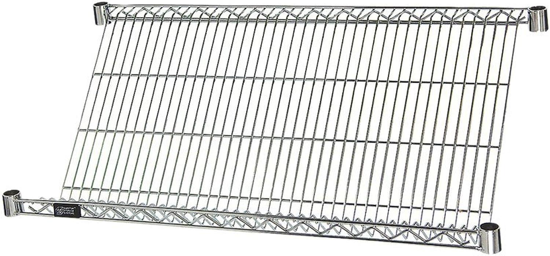 Quantum One 18  W x 36  L Industrial Grade Slanted Chrome Wire Shelf
