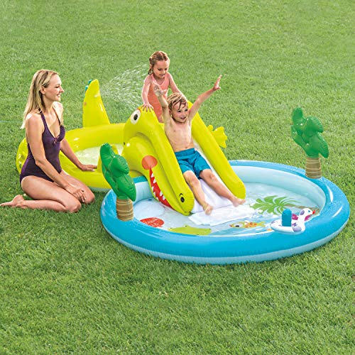 INTEX Gator Play Center Kids Pool with Slide