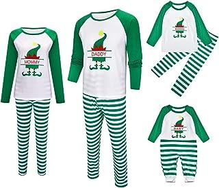Pijama a Juego Familiar de Navidad Papá Mamá y niños Ropa de Dormir Conjunto de Mameluco para bebé