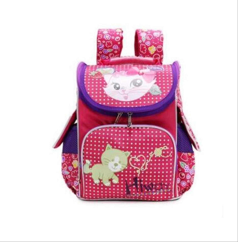 HPADR Kinderrucksack Kids Backpack Cartoon Owl School Knapsack Boys Large Capacity School Bag c Bild-Farbe