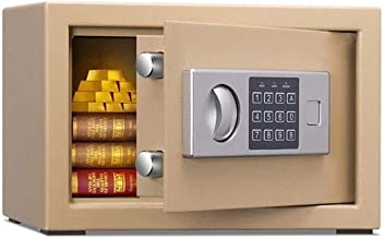 HDZWW Home Keypad Safe - Safe Home Small Mini Jewelry Safe Electronic Password Key Anti-Theft All-Steel Office Folder Ten ...