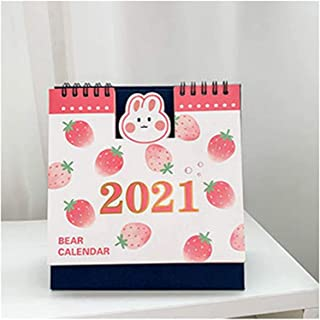 Calendar 2021 Calendars 2021 Desk Calendar Kawaii Desktop Paper Calendar Notebook Daily Scheduler Table Planner Yearly Age... photo