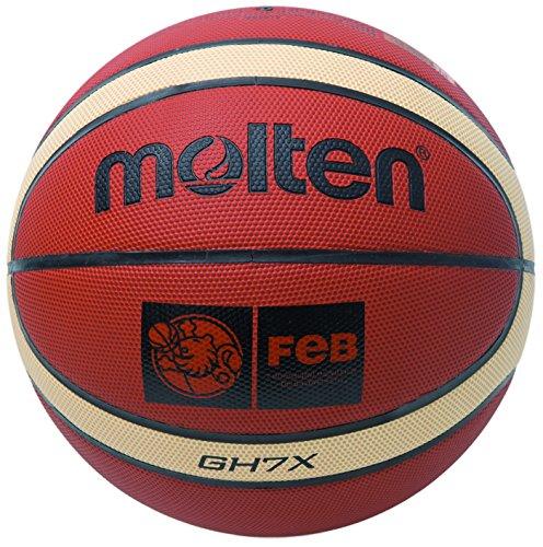 Molten BGHX - Balón de Baloncesto Senior Femenino, Naranja y Marrón claro, Talla 6