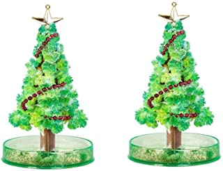 HONG YU 2pcs Christmas Paper Tree Magic Growing Tree Toy Boys Girls Novelty Xmas 10ml Gift Decoration Ornament for Childre...