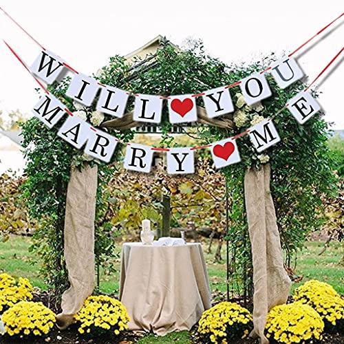 Will you marry me, ghirlanda vintage rustica con corda, festone per matrimonio, feste, addio al nubilato o foto