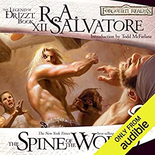 The Spine of the World: Legend of Drizzt: Paths of Darkness, Book 2                   Written by:                                                                                                                                 R. A. Salvatore                               Narrated by:                                                                                                                                 Victor Bevine                      Length: 13 hrs and 5 mins     21 ratings     Overall 4.6