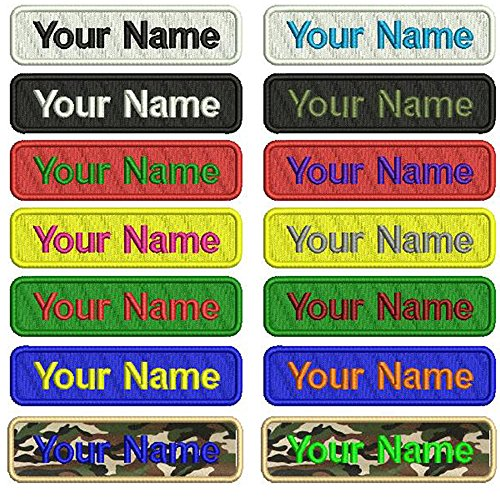 Graceful life Custom Embroidery Name Patches,2 Pieces Personalized Military Number Tag Customized Logo ID for Multiple Clothing Bags Vest Jackets Work Shirts