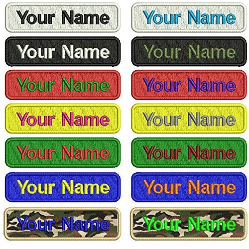 Personalizado Bordado Nombre parche, 2 piezas personalizado Militar número etiqueta personalizada logotipo...