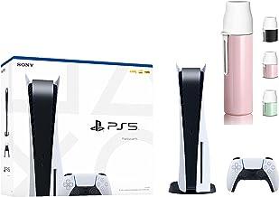 سونی PS5 Playstation 5 Console Disc Version 1 Wireless Controller - x86-64 -AMD Ryzen Zen 8 Cores، AMD Radeon RDNA 2، 16GB RAM GDDR6، 825GB SSD، 120Hz 8K Output - بطری آب تصادفی رنگی