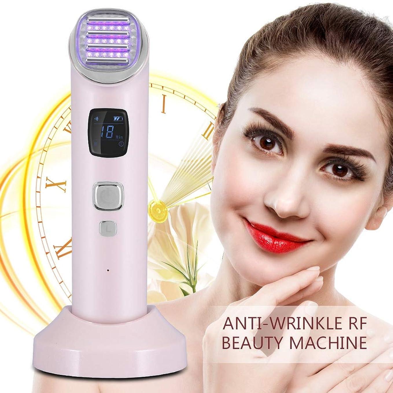杖電卓家庭EMSしわの取り外し機械、赤く青い光子療法の美機械しわの取り外しの表面持ち上がる熱く、冷たい顔のマッサージ用具