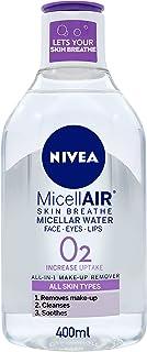 NIVEA Micellar Water Makeup Remover, All Skin Types, 400ml