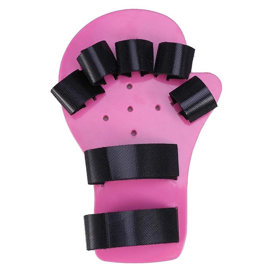 昇る男トランペットHealifty 指副木指板指セパレーターハンド手首トレーニング脳卒中患者関節炎リハビリテーションサポート装具1-5歳(ピンク)
