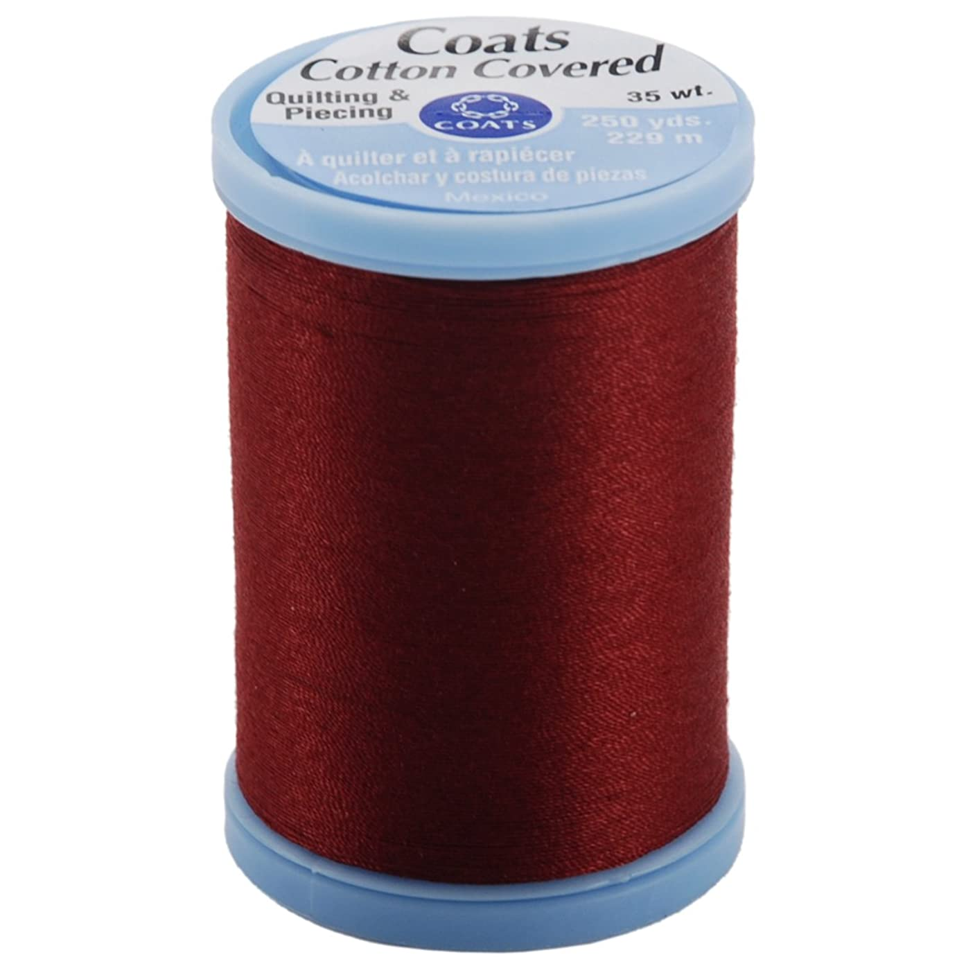 Coats & Clark S925-2820 Cotton Covered Quilting and Piecing Thread, 250-Yard, Barberry Red