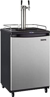 Kegco KOM163S-2 Keg Dispenser, 2 Faucet, Stainless Steel