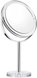 Beautifive Vanity Mirror, Dressing Table Makeup Mirror with 1x/7x, 6'' 360° Swivel Magnifying Mirror, Bathroom Mirror with Crystal-like Style
